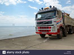 volvo truck parts uk volvo fm9 tipper truck on seafront broadstairs kent england uk