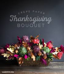 crepe paper floral arrangement for your thanksgiving table paper