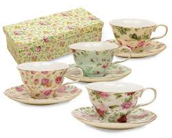 vintage tea set gracie china chintz 8 ounce porcelain tea cup and