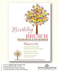 Lunch Invitation Card Birthday Party Invitation Milestone 30th 40th 50th