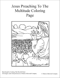 jesus preaching to the multitude coloring page crafting the