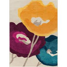 Modern Floral Area Rugs Well Woven Vettore Abbazia Multi 3 Ft 3 In X 4 Ft 7 In