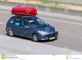 peugeot wagon peugeot 307 station wagon with kayaks editorial photo image