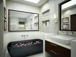 Small Modern Bathroom Vanity Small Modern Bathroom Complete With Bathtub And Mirror Plus Modern