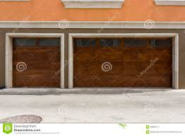 wooden modern three car garage door stock photo image 60868177 accents brown car cars door garage modern three