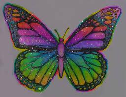 flower glittery psychedelic butterfly sticker store