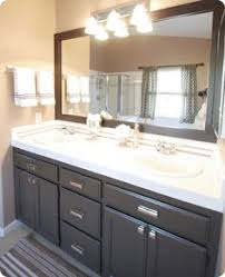 my bathroom colors for the walls trim and cabinet grey walls
