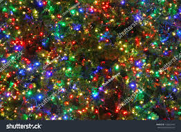 tree multi colored lights stock photo 132822410