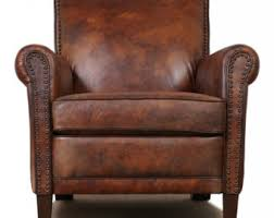 Brown Leather Accent Chair Chairs Alexalindesigns