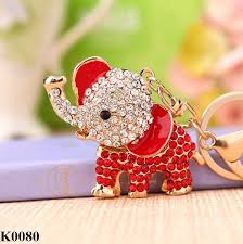 asian elephant ring holder images Unique fashion cute crystal elephant keychain rhinestone animal jpg