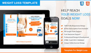 html5 responsive weight loss squeeze page design templates to