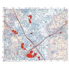 Atlanta Zip Code Map Metro Atlanta Aero Atlas Map Books Aero Surveys Of Georgia