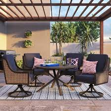Outdoor Wicker Swivel Chair Fabron 2pk Wicker Swivel Rocking Patio Dining Chair Navy