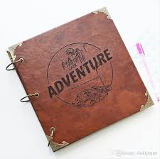 leather scrap book our adventure book photo album leather scrapbook album