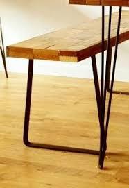 Flat Bar Table Legs Shaped Flat Bar Steel Industrial Style Bench Leg 18