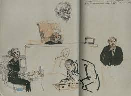 dystopian sketches from inside the inauguration protesters u0027 trial