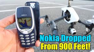 Nokia Brick Meme - nokia 3310 destruction test extreme 900 feet drop test youtube