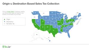 States Ive Been To Map by Origin Based And Destination Based Sales Tax Collection 101