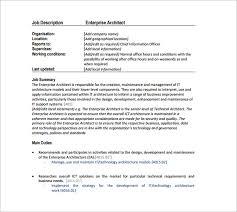 architect job description in the data architect resume one must