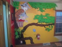 inspired by a reddit post i painted a calvin and hobbes mural on inspired by a reddit post i painted a calvin and hobbes mural on my sons wall link to album in comments