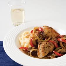 spicy italian style chicken with sausage peppers and onions