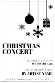 christmas concert program template customizable design templates for white party postermywall