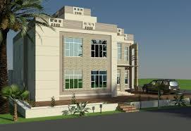 3d front elevation studio project oman arabian beautiful villa