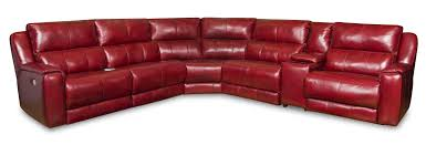 sectional sofa with 5 seats and cup holders and power headrests by