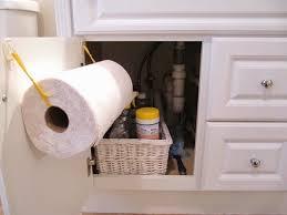Sew Many Ways DIY Under Sink Paper Towel Holder Hooks And - Paper towel holder bathroom
