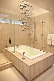 Waterfall Glass Tile Bubble Glass Tile Bathroom Modern With Shower Tub Nickel Vanity Lights