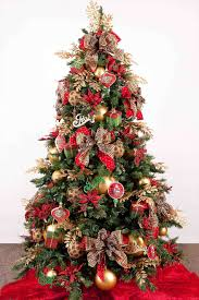 red and gold christmas tree decorating ideas cheminee website