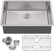 what size undermount sink fits in 30 inch cabinet hykolity 30 inch kitchen sink 16 undermount single bowl stainless steel sink 30 x 18 x 10