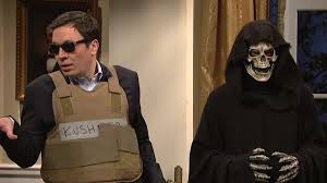 president halloween mask jimmy fallon takes on jared kushner and melissa mccarthy donned