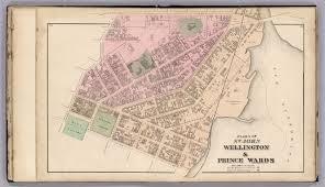 St John Map St John Wellington U0026 Prince Wards New Brunswick David