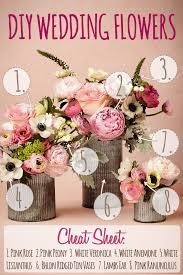 wedding flower centerpieces pink diy wedding flower arrangement