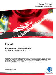 pdl2 language programming manual parameter computer programming