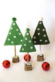 knitted small tree tree new year