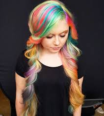 this woman dyed her waist length hair rainbow in just 4 hours allure