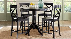 brynwood black 5 pc counter height dining set dining room sets black