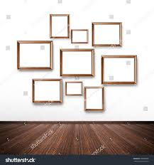 random picture frames on wall inside stock photo 236688058
