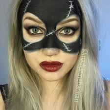 quick tutorial catwoman mask halloween facepaint youtube