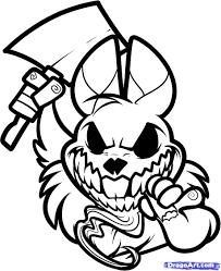 evil easter bunny drawings u2013 happy easter 2017