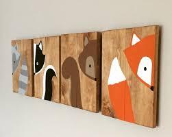 Woodland Animals Nursery Decor 10x14 Set Of 4 Woodland Animal Nursery Signs Nursery Decor Baby