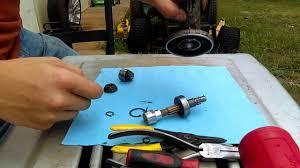 stihl trimmer gear head tear down basic instructions youtube