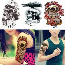3pcs body 3d tattoo sleeve transfer tattoo sticker for body art