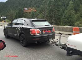 bentley suv 2016 2016 bentley bentayga prototype caught towing a trailer spied