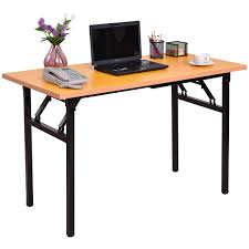 portable folding computer desk giantex portable folding computer desk pc laptop table modern wood