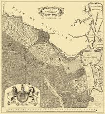 Ga Counties Map Old County Map Savannah Georgia 1735