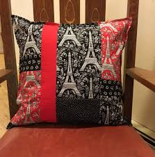 Eiffel Tower Accessories Eiffel Tower Color Block Pillow Cover U2014 Sleeping Dog Quilts