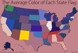 State Flag Meanings Vizual Statistix U2022 To Create This Map I Derived The Average Color
